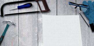 remont mieszkanie dom narzędzia kartka papieru