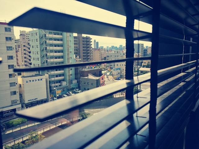 żaluzje, drewno, okno